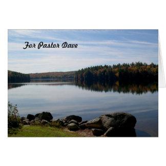 穏やかな湖の写真撮影の牧師の感謝 カード