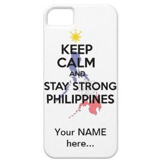 穏やかな滞在強いフィリピンを保って下さい iPhone SE/5/5s ケース