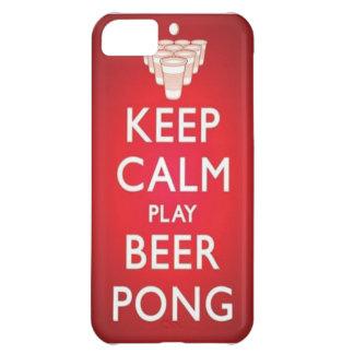穏やかな演劇ビールPongの電話箱を保って下さい iPhone5Cケース