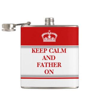 穏やかな父のおもしろいな赤を保って下さい フラスク