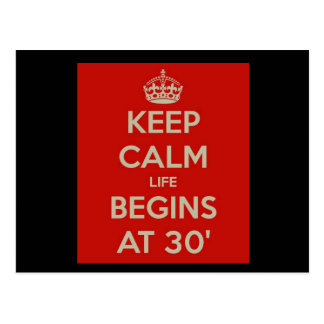 穏やかな生命を始まります30で保って下さい ポストカード
