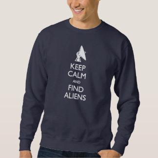 穏やかな発見のエイリアンのTシャツを保って下さい スウェットシャツ