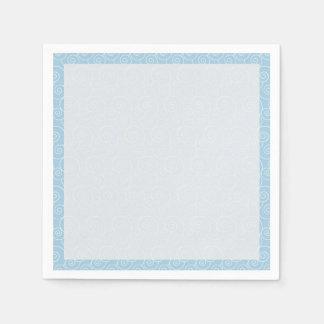 穏やかな白は空色で渦巻きます スタンダードカクテルナプキン