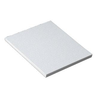 穏やかな白は空色で渦巻きます ノートパッド
