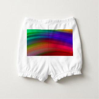 穏やかな虹の波の抽象芸術 おむつカバー