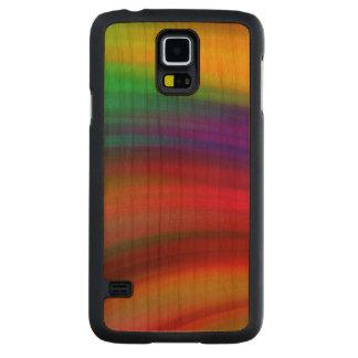 穏やかな虹の波の抽象芸術 CarvedチェリーGalaxy S5スリムケース