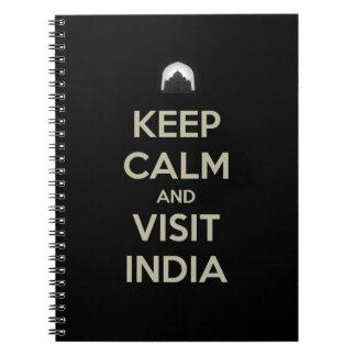 穏やかな訪問インドを保って下さい ノートブック