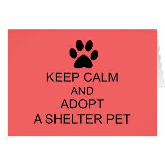 穏やかな避難所ペットを飼って下さい カード