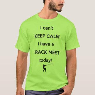 穏やかな陸上競技会のワイシャツを保って下さい! ハンマー投げのワイシャツ Tシャツ