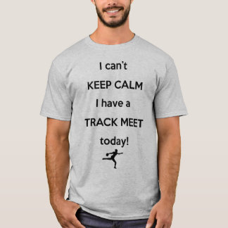 穏やかな陸上競技会のワイシャツを保って下さい! 円盤投げのワイシャツ Tシャツ