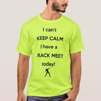 穏やかな陸上競技会のワイシャツを保って下さい! 砲丸投げ投球のワイシャツ Tシャツ