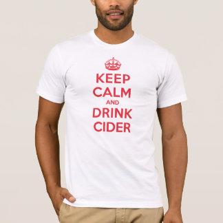 穏やかな飲み物のりんご酒を保存して下さい Tシャツ