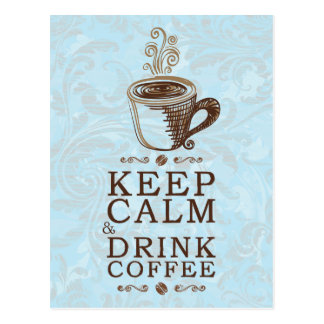 穏やかな飲み物のコーヒーを保存して下さい ポストカード