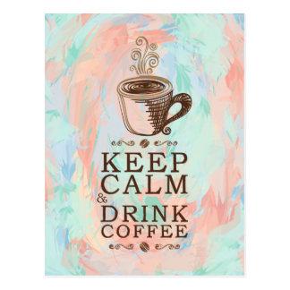 穏やかな飲み物のコーヒー-抽象的な背景--を保存して下さい ポストカード