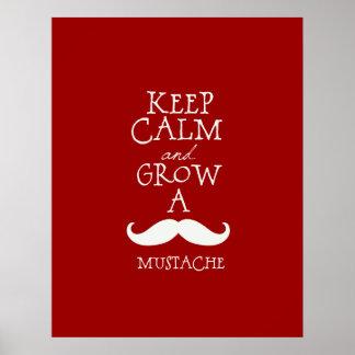 穏やかな髭を保って下さい ポスター