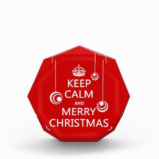 穏やかな、メリークリスマスを保って下さい 表彰盾