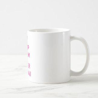 穏やかな、極度のかわいいを保って下さい コーヒーマグカップ