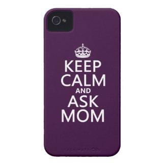 穏やか保ち、お母さん-すべての色--に尋ねて下さい Case-Mate iPhone 4 ケース