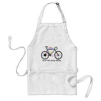 穏やか保ち、やる気を起こさせるな単語と、自転車に乗ることを行って下さい スタンダードエプロン
