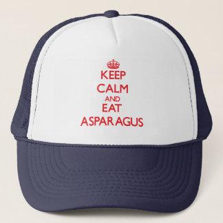 穏やか保ち、アスパラガスを食べて下さい キャップ