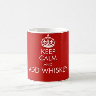 穏やか保ち、ウィスキーのマグを加えて下さい コーヒーマグカップ