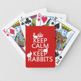 穏やか保ち、ウサギ-すべての色--を飼って下さい バイスクルトランプ