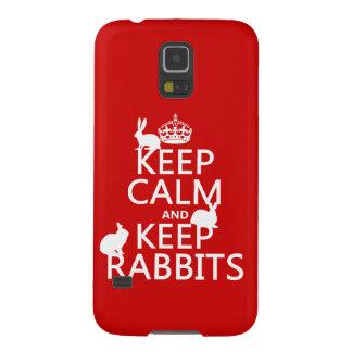 穏やか保ち、ウサギ-すべての色--を飼って下さい GALAXY S5 ケース