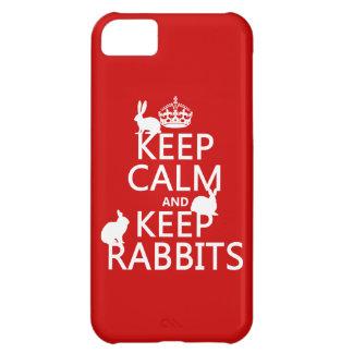 穏やか保ち、ウサギ-すべての色--を飼って下さい iPhone5Cケース