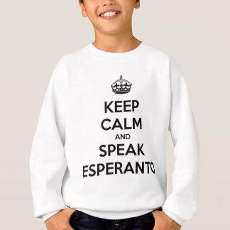 穏やか保ち、エスペラントを話して下さい スウェットシャツ