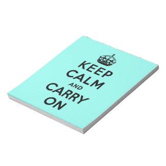 穏やか保ち、オリジナルを続けていって下さい ノートパッド