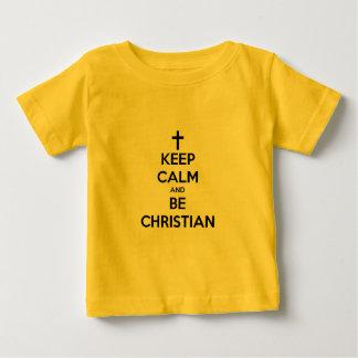 穏やか保ち、キリスト教があって下さい ベビーTシャツ