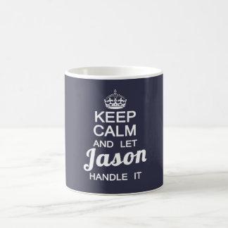 穏やか保ち、ジェイソンをそれを扱うことを許可して下さい コーヒーマグカップ