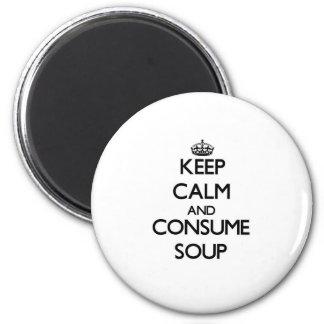 穏やか保ち、スープを消費して下さい マグネット