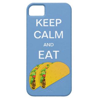 穏やか保ち、タコスのiPhone 5の場合を食べて下さい iPhone SE/5/5s ケース