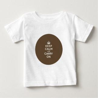 穏やか保ち、チョコレート色のバニラを続けていって下さい ベビーTシャツ