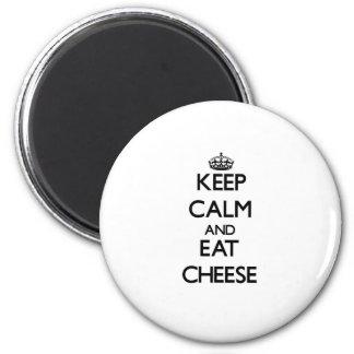 穏やか保ち、チーズを食べて下さい マグネット