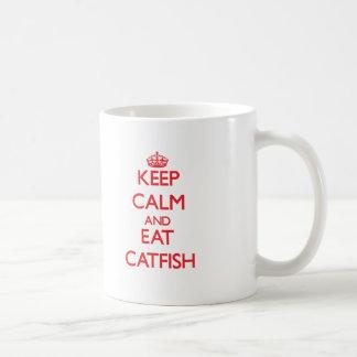 穏やか保ち、ナマズを食べて下さい コーヒーマグカップ