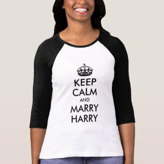 穏やか保ち、ハリーのワイシャツを結婚して下さい Tシャツ