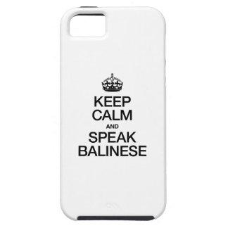 穏やか保ち、バリ島を話して下さい iPhone SE/5/5s ケース