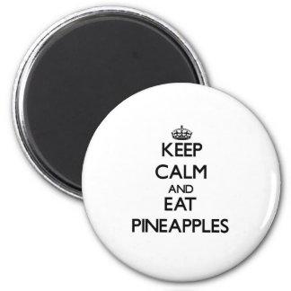 穏やか保ち、パイナップルを食べて下さい マグネット