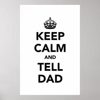 穏やか保ち、パパを言って下さい ポスター
