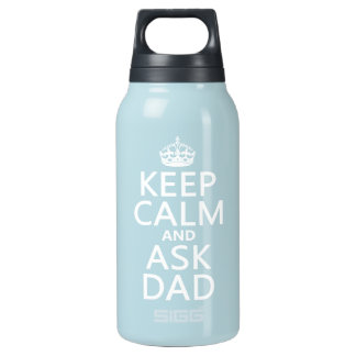 穏やか保ち、パパ-すべての色--に尋ねて下さい 断熱ウォーターボトル