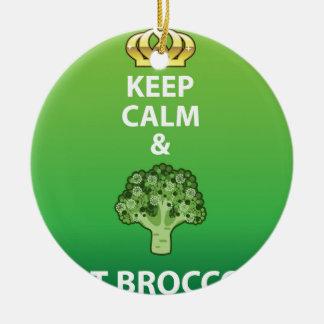穏やか保ち、ブロッコリーのベクトルを食べて下さい セラミックオーナメント