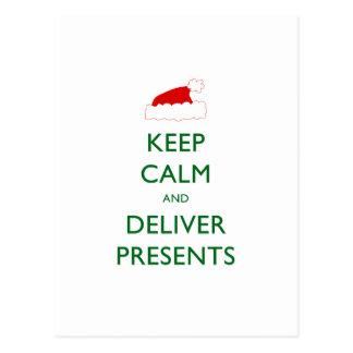 穏やか保ち、プレゼントを提供して下さい ポストカード