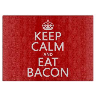 穏やか保ち、ベーコンを食べて下さい カッティングボード