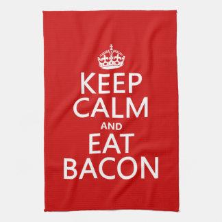 穏やか保ち、ベーコンを食べて下さい キッチンタオル