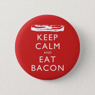 穏やか保ち、ベーコンを食べて下さい 5.7CM 丸型バッジ