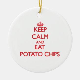 穏やか保ち、ポテトチップを食べて下さい セラミックオーナメント