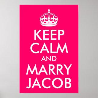 穏やか保ち、ヤコブを結婚して下さい ポスター