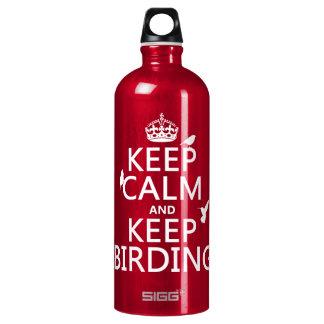 穏やか保ち、保って下さい野鳥観察(どの色でも)を ウォーターボトル